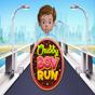 Пълничко тичащо момче